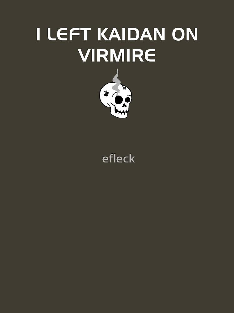 I left Kaidan on Virmire by efleck