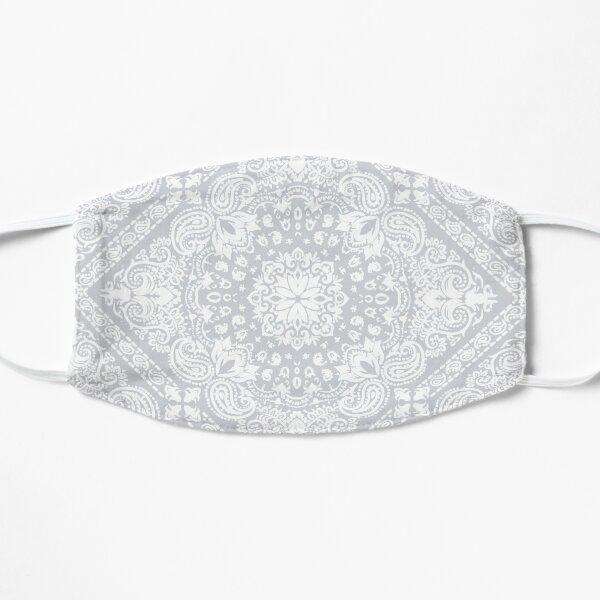 white bandana mask Flat Mask