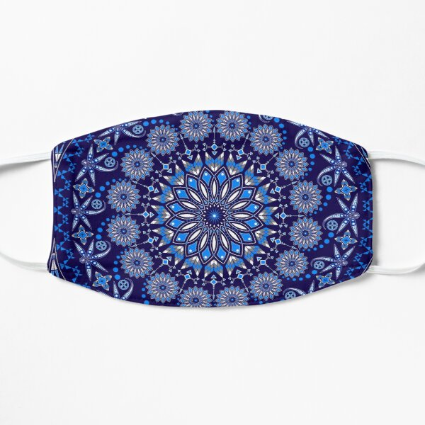 Visit from the Ancestors (Dragonfly) Blue and white Flat Mask