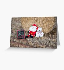 Santa & Xmas Teddy...... Greeting Card