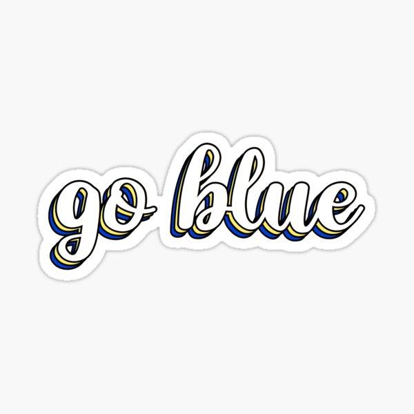 go blue layered Sticker