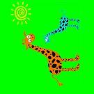 colorful Giraffe family (sticker & iPhone/iPod case) by keyweegirlie