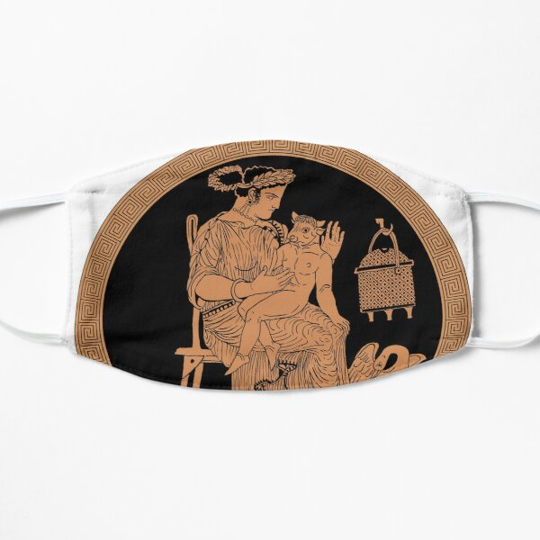 Baby Minotaur -- Minitaur! (Black background) Flat Mask