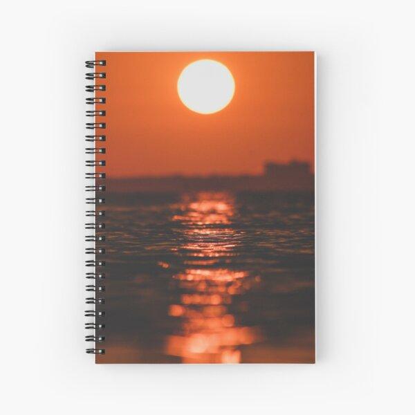 Glassy Sunset Spiral Notebook