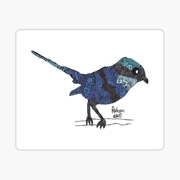 Robot Blue Fairy Wren Sticker