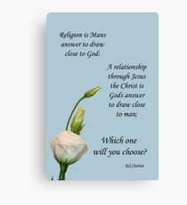 religion relationship Canvas Print