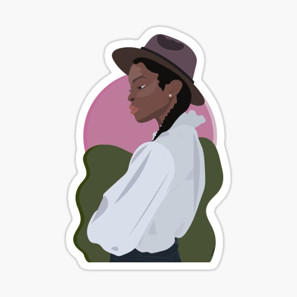 Girl With A Cool Hat Sticker