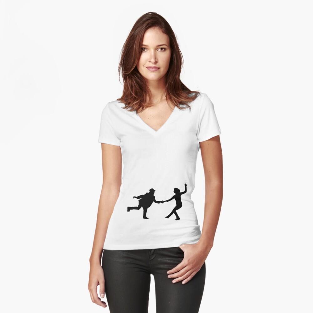 Baile swing Camiseta entallada de cuello en V