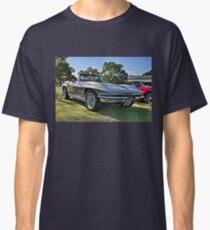 Silver 1963 Chevrolet Corvette convertible. Classic T-Shirt