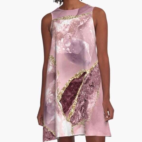 Blush Agate A-Line Dress