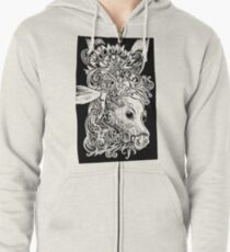 Titania & Bottom linotype Zipped Hoodie