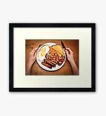 Full English breakfast Framed Print