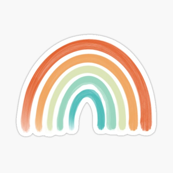 Aesthetic Rainbow Sticker