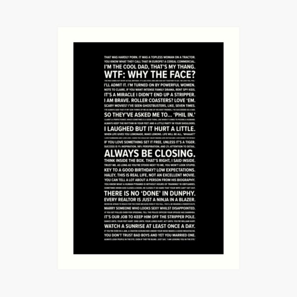 Phil Dunphy Quotes Art Print