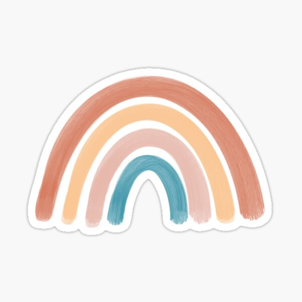 Earthy toned rainbow Sticker