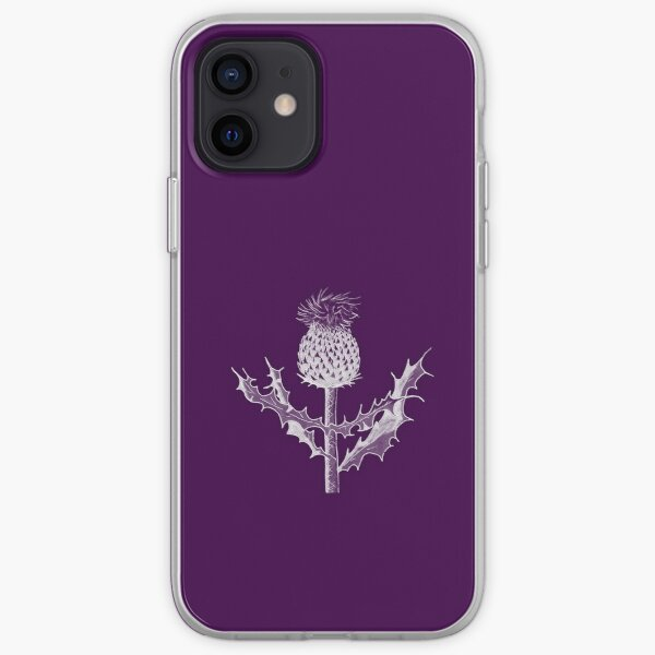 Scottish Thistle DuoTone iPhone Soft Case