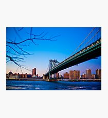 Thats how we across - Manhattan Bridge Photographic Print