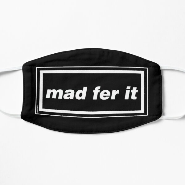 Mad Fer It - Oasis Gallagher 90s Band Artwork Flat Mask