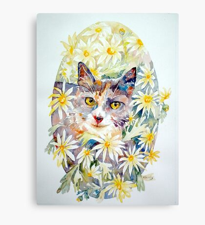 Molly in the daisies - photo by Annette Hagger Canvas Print
