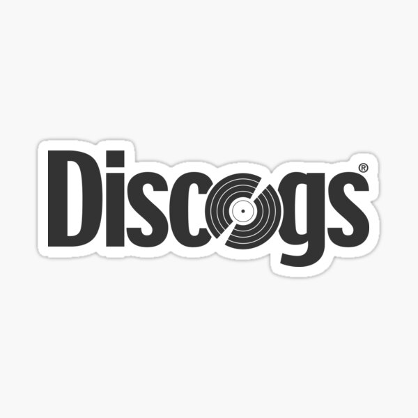 Discogs (all rights reserved) logo Sticker