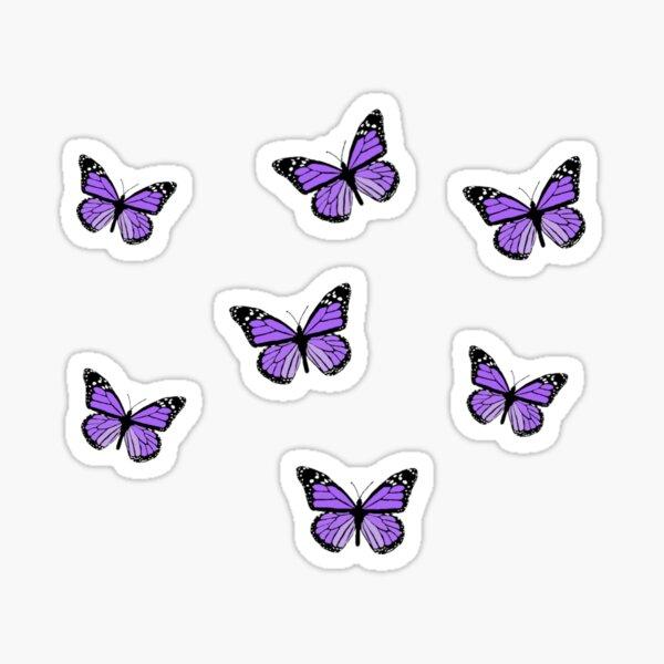 purple butterflies Sticker