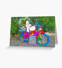 Santa's little bike... Greeting Card