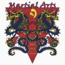 Dragons Martial Arts Body, Mind Spirit T shirt by JanDeA
