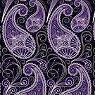 Pastel Tone Vintage Paisley Design, Touch Of Purple by artonwear