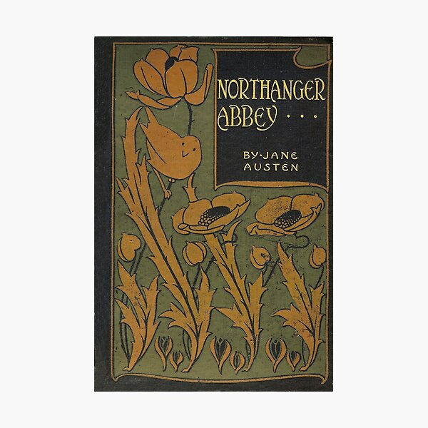 Northanger Abbey by Jane Austen (vintage book cover) Photographic Print