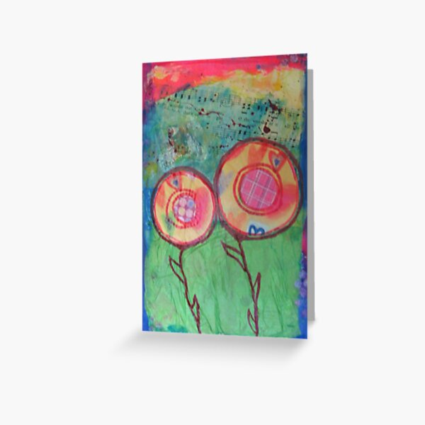 Flowers in Wind and Sun Greeting Card