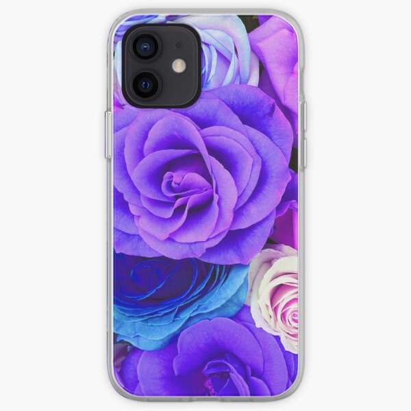 Colorful Roses Collage-Cool Tones iPhone Soft Case