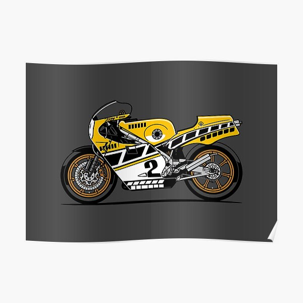 YZR500 Kenny Roberts Motorcycle Poster