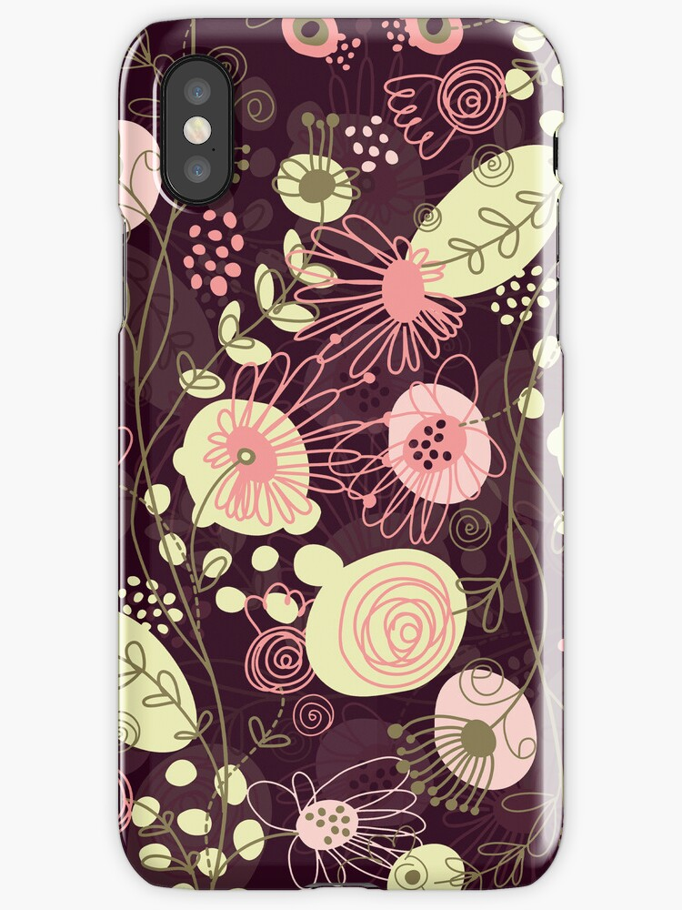 Cute Abstract Retro Floral Pattern Pastel Tones by artonwear