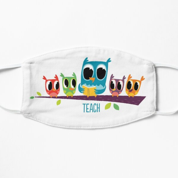 Teaching Owl  Flat Mask