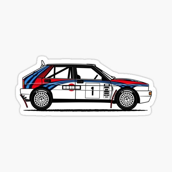Delta Integrale Rally Car Sticker