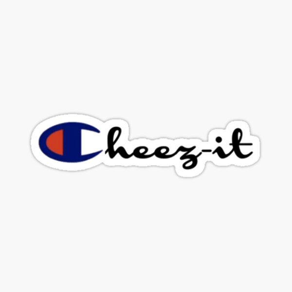 """Champion """"Cheez-it"""" Logo Sticker"""