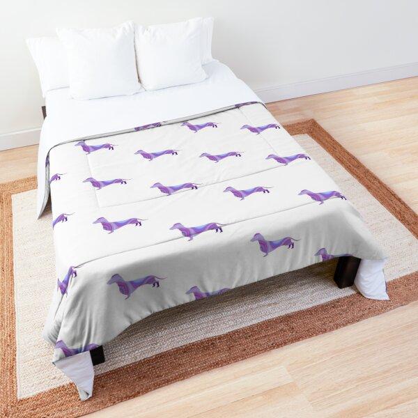 Purple Marble Weiner Dog Comforter