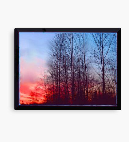 Winter Sunrise Through the Trees Canvas Print