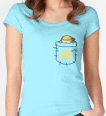 Pocket Link (with triforce) Women's Fitted Scoop T-Shirt