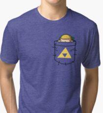Pocket Link (with triforce) Tri-blend T-Shirt