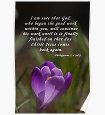 Philippians 1:6 Poster