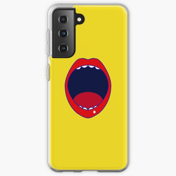 red lips funny mouth screamer  Samsung Galaxy Soft Case