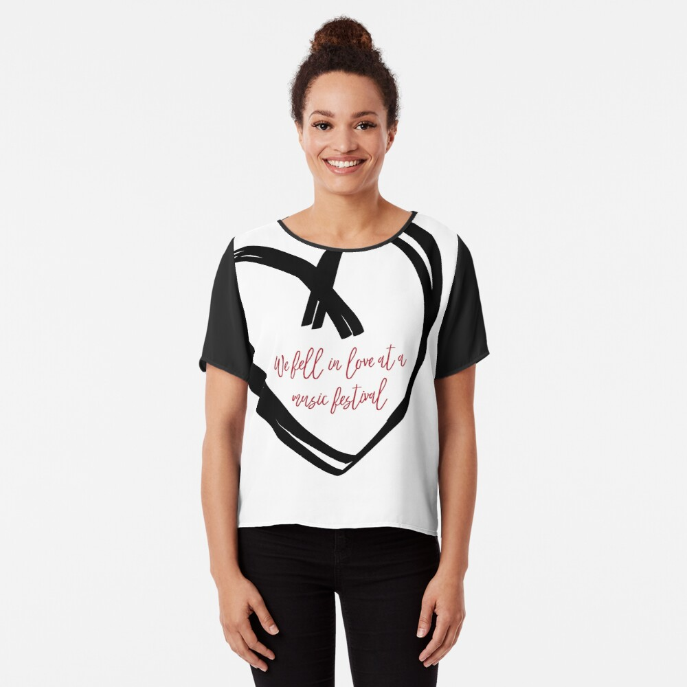 I Fell In Love At A Music Festival Graphic Chiffon Top