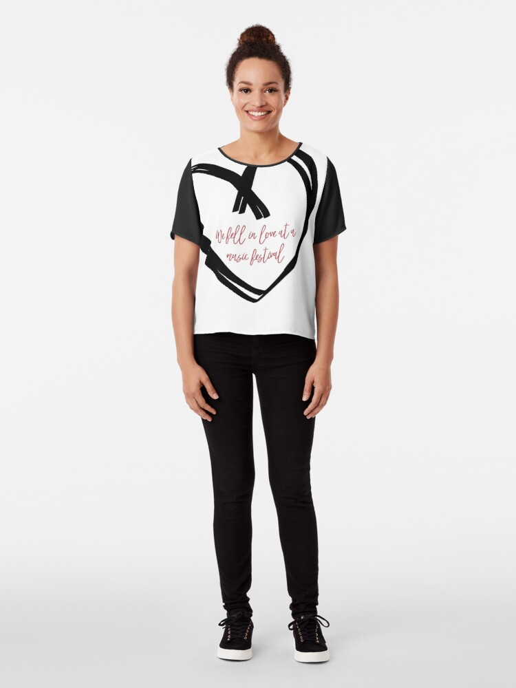 Alternate view of I Fell In Love At A Music Festival Graphic Chiffon Top