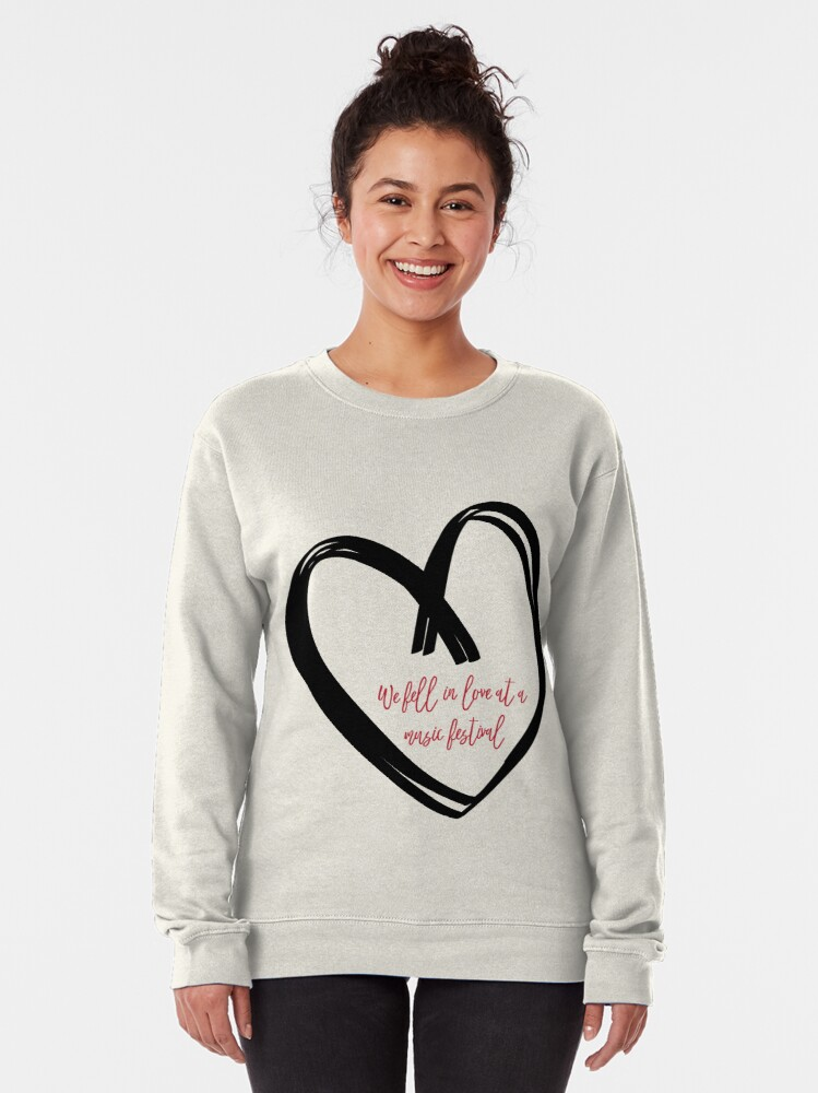 Alternate view of I Fell In Love At A Music Festival Graphic Pullover Sweatshirt