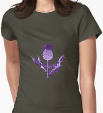 Purple Thistle DuoTone Women's Fitted T-Shirt
