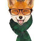 Hipster Fox by digerati