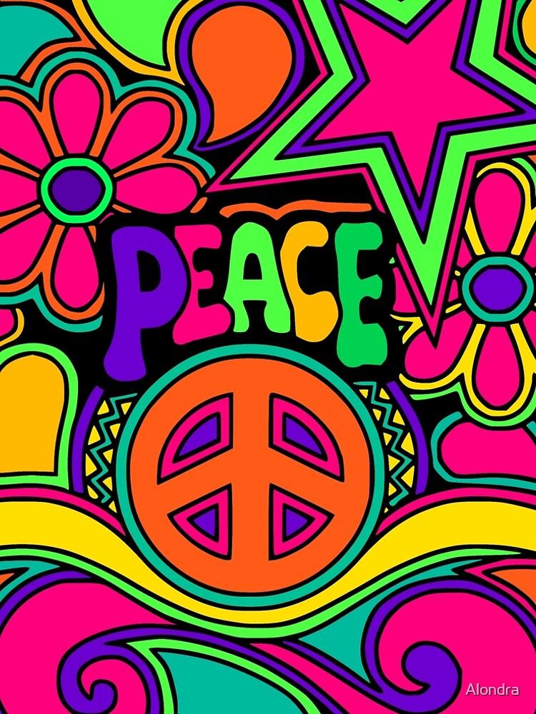 Pretty Pink n Colorful Hippy Trippy Design by Alondra