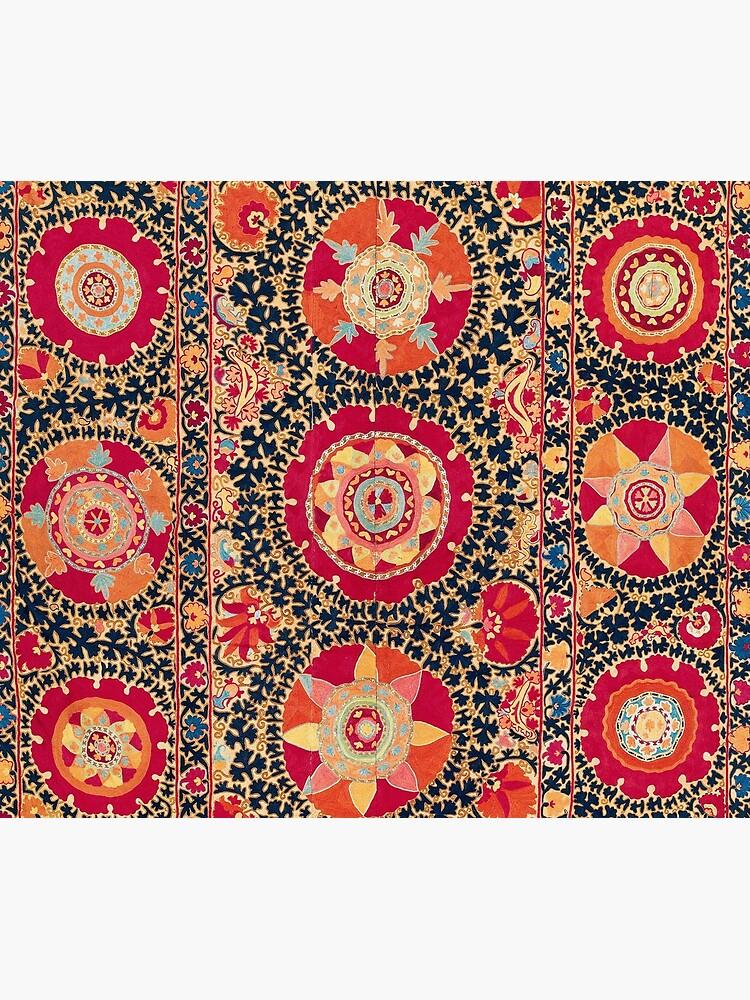 Kermina Suzani Uzbekistan Floral Embroidery Print by bragova