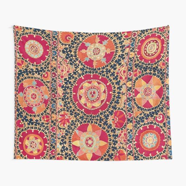 Kermina Suzani Uzbekistan Floral Embroidery Print Tapestry